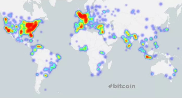 Heat Maps Tracking Global Cryptocurrency Chatter