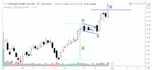 flag2-300x139 Swing Trading a Bullish Flag Formation (BZH)